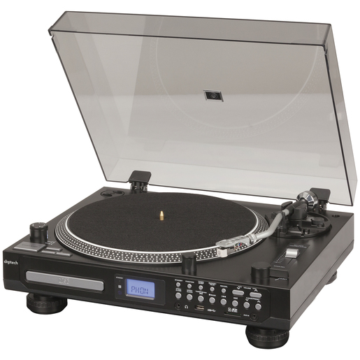PLAYER TURNTABLE CD FM USB/SD