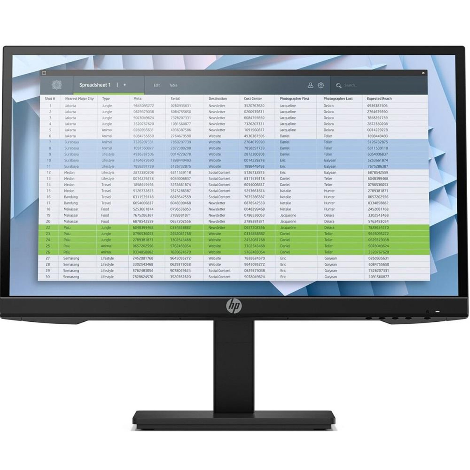 "HP 21.5"" BUSINESS MONITOR"