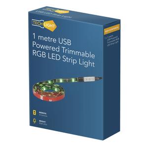 LED RGB STRIP USB REMOTE 1M