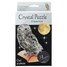 Crystal Puzzle 3D Owl Black