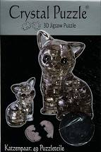Crystal Puzzle 3D Black Cat in a Pair