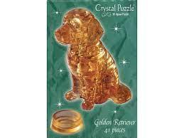 Crystal Puzzle 3D Golden Retriever