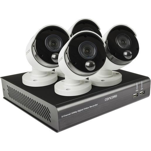 DVR/CAM KIT 1080P 8CH+4XPIR CAM CNCRD