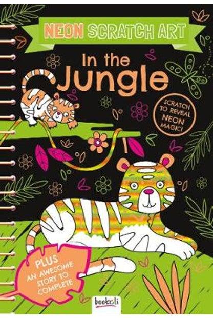 Neon scratch art: In the jungle