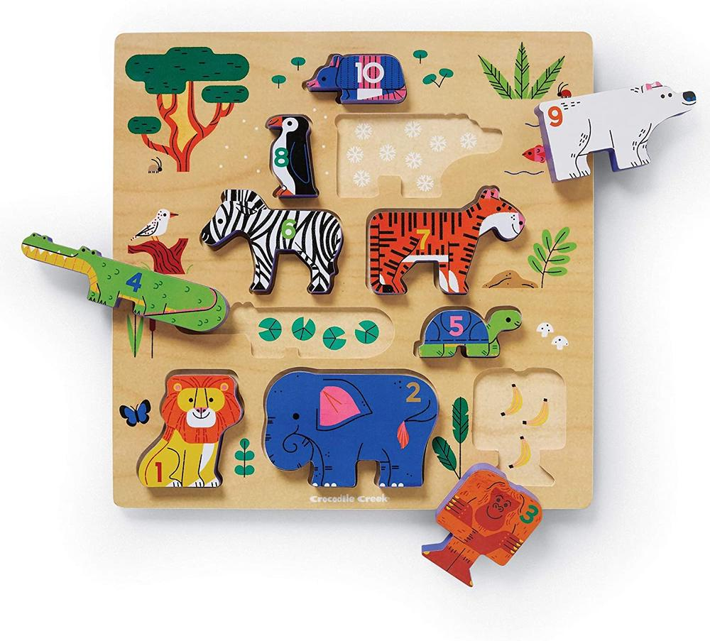 Croc creek wooden puzzle: Stacking zoo