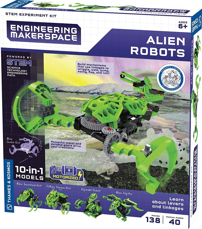 Alien robots model experiment kit
