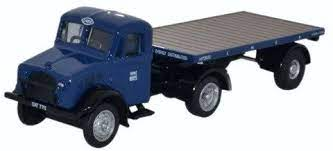 Oxford 1:76 Bedford Ox Flatbed with Trailer