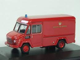 Oxford 1:76 Fire Commer Walk Thru Van London Fire Brigade