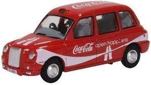Oxford 1:76 TX4 Taxi Coca - Cola