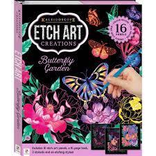 Kaleidoscope etch art creations Butterfly garden