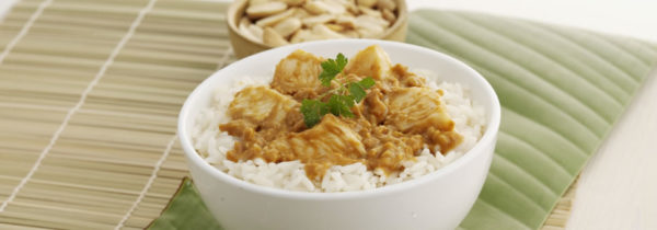 K4.Chicken Satay on rice