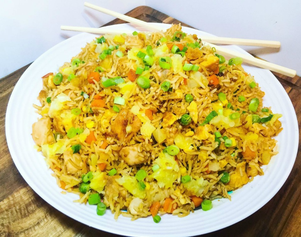 N2. Pineapple Fried rice with .......