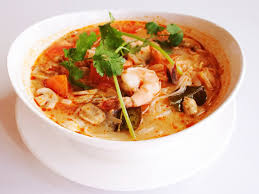 S4. Tom Yum soup with Rice noodles and ........